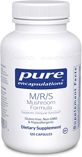 Pure Encapsulations - M/R/S Mushroom Formula - Hypoallergenic Supplement Promotes Immune Health and Provides Broad-Spectrum Physiological Support - 120 Capsules