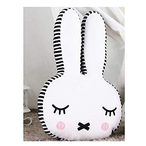 Asskanaer Nettes Kaninchen Spielzeug Kissen Super weiches Kissen Lendenkissen Kinder Puppe dekorative Kinderzimmer senden Mädchen vorhanden Kinderwagen Cafés Bett dekorativ (Color : B, Size : L)