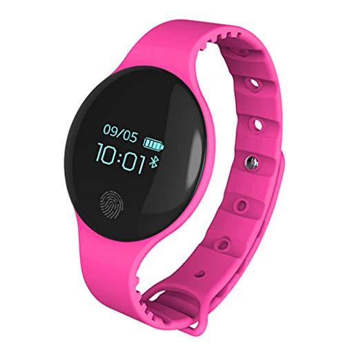 LTLJX Bluetooth Sportuhr, Wasserdicht Fitness Tracker Armband Uhr Wander Outdoor GPS Kalorienzähler kompatibles IOS und Android,Armbanduhr für Kinder Damen Herren,Lila