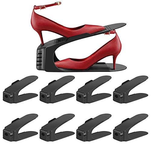 WIS 10 St/ück Verstellbarer Schuhstapler,Schuhregal//Schuhhalter Set Space Saver F/ür Herren Damen