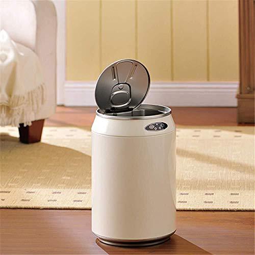 Inductie-vuilnisemmer met intelligente aanraaksensor, kan focussen en waterdichte vuilnisbak, geschikt voor kleine ruimtes, woonkamer, badkamer, keuken, decoratieve opbergemmer.