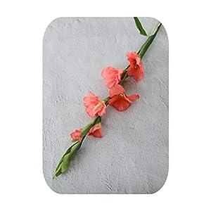 sexy-drunk 99Cm 6 Head Artificial Gladiolus Decor Home Garden Wedding Flower Arrangement Gladioli Fake Plants Silk Red White Pink Wholesale