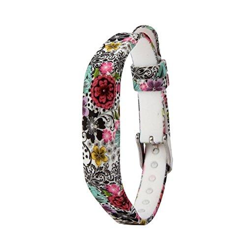 Vovotrade Dames zachte siliconen horlogeband armband voor Fitbit Flex 2 Smart Watch (C)