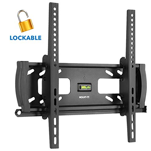 Mount-It! Lockable Anti Theft Tilt TV Wall Mount, Locking Bar Security Wall Mount fits 32' to 55' Flat Screen LCD LED Plasma TVs, up to 99 lbs (MI-2244T)