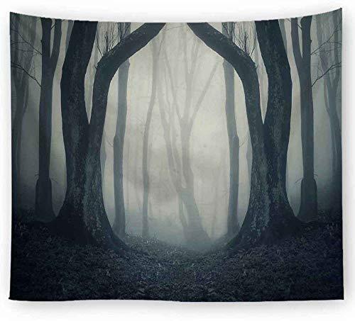 ZYLSZBD Tapiz De Tapices para La Sala De Estar DormitorioTela Decorativa Estampado Bosque-Imagen 8_El 150X100cm