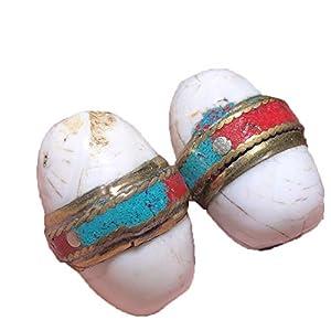 ZHIBO Ein Paar tibetische Dzi Perlen Halskette Anhänger