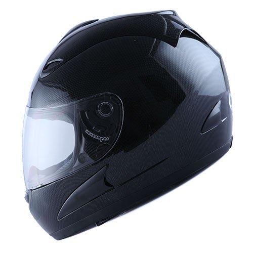 WOW Street Bike Full Face Carbon Fiber Black Motorcycle Helmet