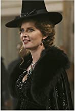 Rebecca Mader Once Upon a Time In black dress and witch hat facing left and smiling 8 x 10 Inch Photo