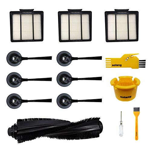 Accessories for Shark ION Robot Vacuum Cleaner R85 RV850 RV850BRN RV850WV S87 RV851WV RV700_N RV720_N RV750_N Replacment Parts Pack of 1 Main Brush, 3 Hepa Filters, 6 Side Brushes, 2 Cleaning Tools Attachments Dining Features Kitchen