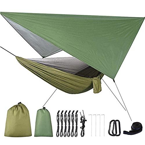 TNSYGSB 2 en 1 Hamaca de Camping portátil Liviana Mosquito Neta Hamaca Tienda con toldos a Prueba de Agua Set-C hamacas Colgantes (Color : C)