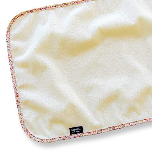はぐまむ hugmamu® 日本製 携帯 おむつ替えシート おむつ替えマット 防水 (48×35, クリーム×フラワリー) 4339-03-F