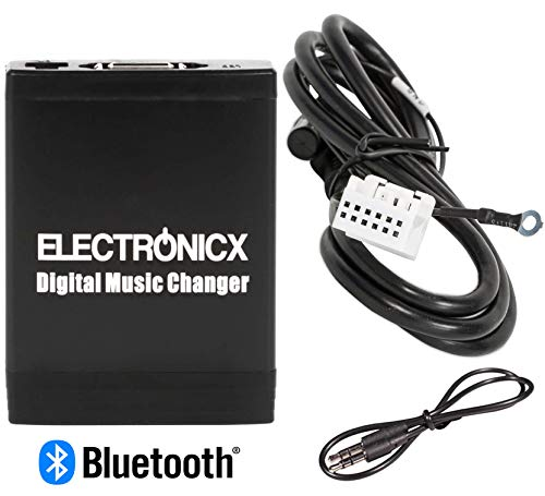 Elec-M06-VW12-BT Adapter USB SD MP3 AUX Bluetooth Freisprechanlage für Audi VW, Skoda Seat 12 Pin