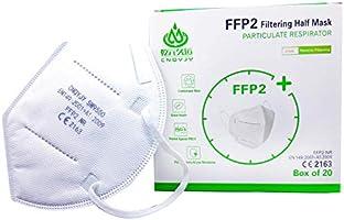 20 Mascherine Protettive FFP2 certificate CE Italia, mascherine FFP2 con Gommino per Naso, confezionate Singolarmente....