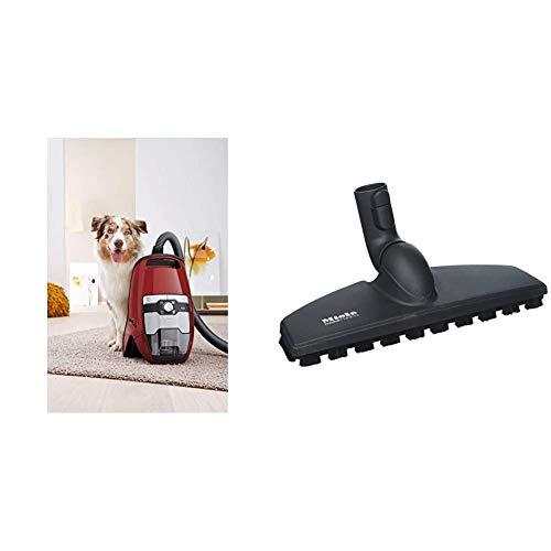 Miele Blizzard CX1 Cat und Dog Powerline Bodenstaubsauger (ohne Beutel, 2,5 l Staubbeutelvolumen, 890 Watt, 11 m Aktionsradius, inkl. Turbobürste) rot & SBB 300-3 Parkettdüse Twister