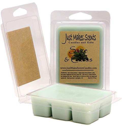 Just Makes Scents 2 Pack - Sage & Citrus Scented Soy Wax Melts | Long Lasting Fragrance Cubes | Hand Poured in The USA Candles & Gifts