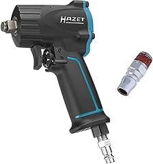 Klucz udarowy sprężonego powietrza HAZET (bardzo krótki (92 mm) I maks. moment rozpuszczania 1100Nm, kwadratowy 12,5 mm (1/2 cala), zalecany moment obrotowy 610 Nm, mechanizm udarowy młotka Jumbo) 9012M