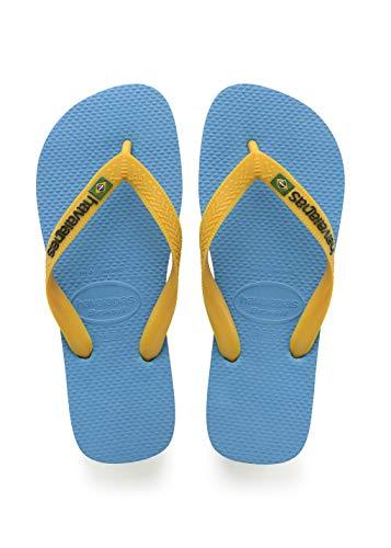 Havaianas Brasil Logo 4110850, Infradito Unisex Adulto, Blu (Turquoise/Citrus Yellow), 41/42 EU