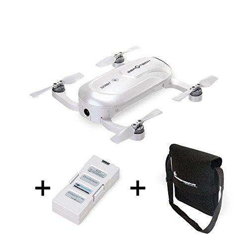 ZEROTECH Dobby 4K Selfie Drohne - Ultraleicht 200 Gramm - Kleinster GPS Quadrocopter - Sonderedition mit Ersatzakku und Flugtasche - APP Steuerung