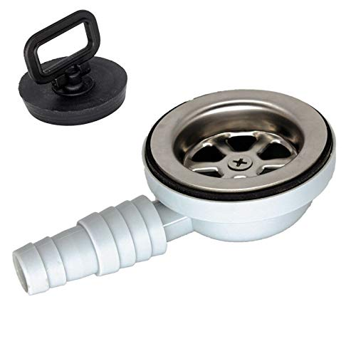 Desagüe para lavabo, 90°, para caravana, 20-25 mm