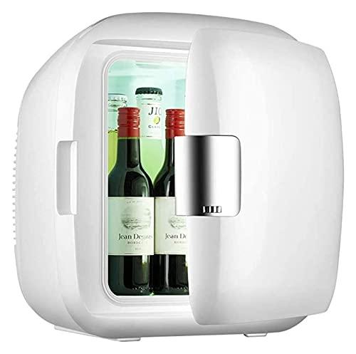 Mini refrigerador silencioso, mini refrigerador Nevera pequeña portátil de 9 l con función de enfriamiento y calentamiento Cesta de almacenamiento extraíble incorporada (Color: Blanco, Tamaño: 31x28x2