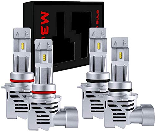 1 Year Warranty 4 Pack,2 Sets WISWIS 9005//HB3 High Beam H11//H8//H9 Low Beam LED Headlight bulbs Combo Package CSP Chips 12000LM 6000K Ice White Brightness Upgraded Conversion Kits with Mini Fans