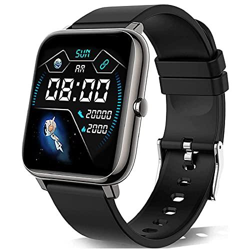 KALINCO Smartwatch, 1.4 Zoll Touch-Farbdisplay mit personalisiertem Bildschirm,Armbanduhr mit Blutdruckmessung,Herzfrequenz,Schlafmonitor, Sportuhr IP67 Wasserdicht Schrittzähler für Damen Herren
