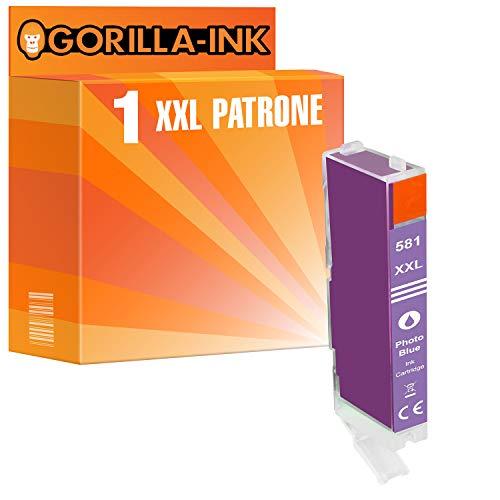 Gorilla-Ink 1 Cartucho de Tinta Compatible con Canon CLI-581 XXL Photocyan | para Pixma TS 6351 8120 8150 8151 8152 8220 8240 8241 8242 8250 8251 8252 8350 8351 8352 9150 9155