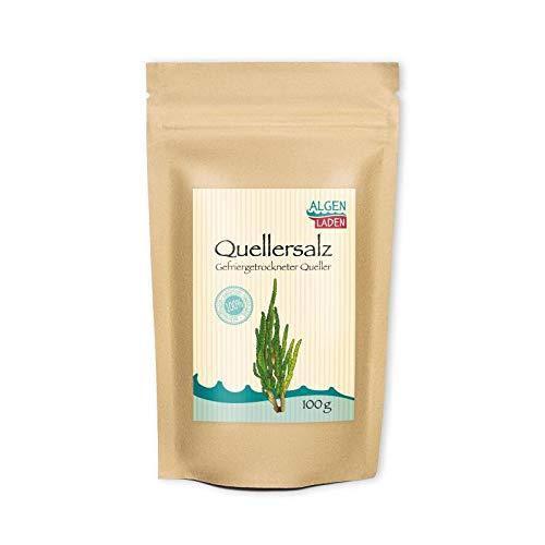 ALGENLADEN Quellersalz - 100g | Gemüse aus dem Meer | Salicornia als Gewürz | Alternative für Salz | Vegan
