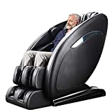 OOTORI SL-Track Massage Chair, Yoga Strength 3D Robert Zero Gravity Full Body Shiatsu Massage Recliner Chair with Heating&3-Row-Footroller,Bluetooth,Brown (Black)