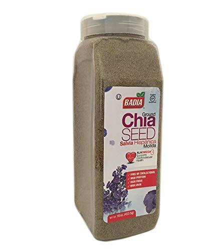 16 oz-Ground Chia Seed Powder Fiber / Salvia en Polvo Molida Gluten Free Kosher