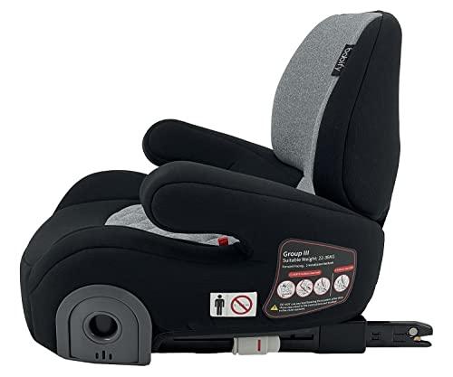 Babify 3Fix Elevador de Coche con Respaldo (22 a 36 kg) - Asiento Alzador de coche con sistema de fijación ISOFIX, grupo ECE 3