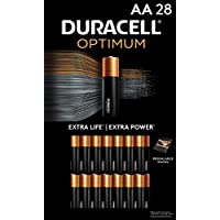 28-Count Duracell Optimum Lasting Power Double AA Batteries