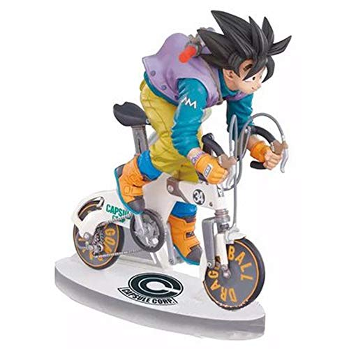 Qivor Anime Spielzeug Dragon Ball Anime Modell, die Monkey King Statue Riding A Bike-Modelle, Tischdekoration, 16cm