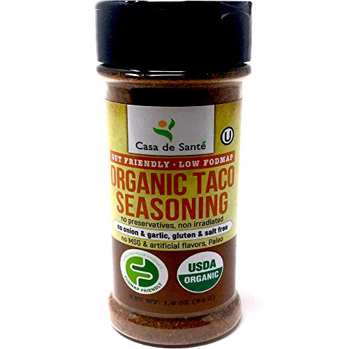 Organic Paleo Seasoning, Healthy Low FODMAP Spices (Taco)|No Onion No Garlic, Gluten Free, No Salt, No Carb, Keto, Whole30, Kosher, All Natural, No GMO, Non Irradiated, Popcorn Seasoning-Casa de Sante