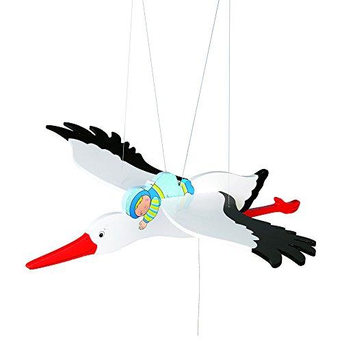 Toys pure Storch mit Baby, Schwingtier