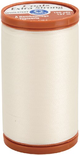COATS & CLARK S964-8010 Extra Strong Upholstery Thread, 150-Yard, Natural