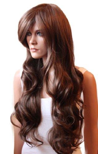 Prettyshop Perruque en cheveux synthétiques, résistante à la chaleur, coupe longue, unisexe u marrone mescolare # 2/30 FP712e