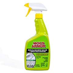 MOLD ARMOR Mold and Mildew Killer Quick Stain Remover kills mold, mildew, bacteria, and viruses. A broad-spectrum germ, bacteria, virus, and fungus killer that cleans mold, mildew, algae, dirt, and grime stains. For use on hard, non-porous surfaces i...