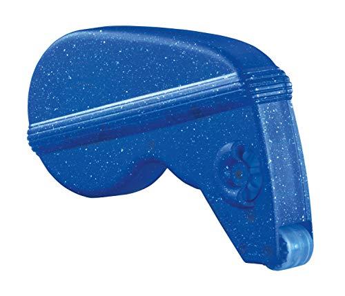 HERMA 1023 Kleberoller, permanent (13 x 12 mm, nachfüllbar) selbstklebender Klebespender mit doppelseitigen Klebestücken für Fotos, Basteln, Schule und Büro, blau