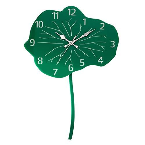 xinxinchaoshi Reloj de Pared Lotus Pendulum Reloj de Pared Hecho a Mano Creativo Reloj de Pared de acrílico Reloj de Pared Diseño Moderno Home Art Clock Decorativo Relojes de Pared