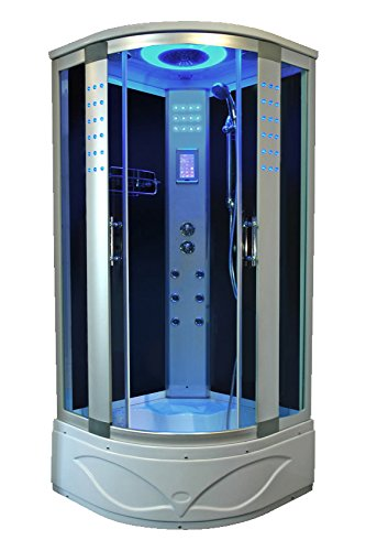 Bath Masters 8004-A Home Bathtub Spa Sauna, Corner Steam Shower Room
