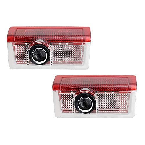 xy 2 PCS LED Puertas de automóviles Light Light Light Logo para Mercedes Benz W212 W205 AMG ML W166 W176 W177 W213 W246 Glb Glc Gla Gls Gle (Color : 2 Pieces, Emitting Color : 09.AMG in Circle