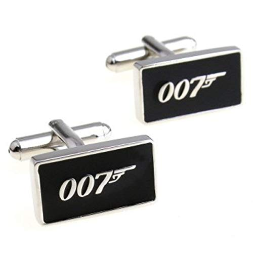Patch Nation 007 James Bond Metall Cosplay Cufflinks Manschettenknöpfe