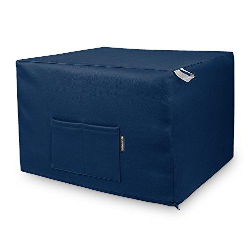 HAPPERS Puff Azul Convertible en Cama cómoda con Funda de P