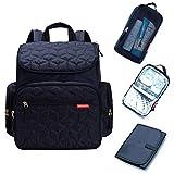 Bebamour Baby Wickelrucksack Wickeltasche mit Wickelunterlage Multifunktional Große Kapazität Babytasche Reisetasche für Unterwegs (Blau)