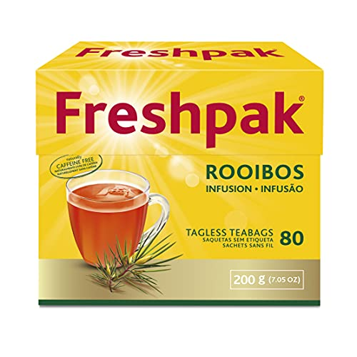 Freshpak Rooibos Tea   80 Tagless Teabags   Natural Rooibos   Naturally Caffeine Free   Keto Friendly   Rooibos From South Africa   Non GMO