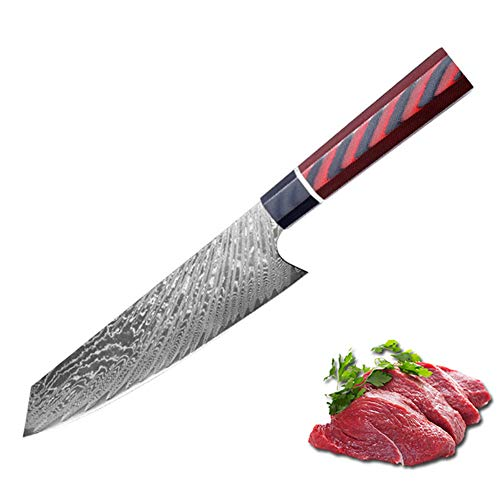 SDOKEDC Knives C1209 Cuchillo de cocina profesionales Damascus VG10 steel kitchen knife,Stainless Steel knife,Slicer knife,Cozinha knife,Japanese knife (reddish black)