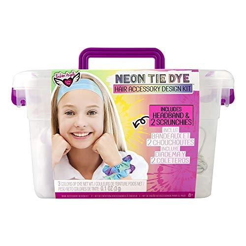 Fashion Angels Neon Tie Dye Hair Accessories Kit(12479) Tie Dye Caddy Set, Multi