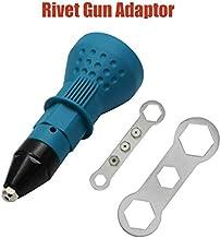 MASO - Remache para taladro eléctrico inalámbrico - Herramienta de remache de remachado eléctrico para remachar (azul), azul