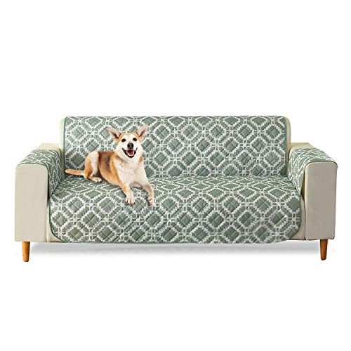 PETCUTE Sesselbezug Sesselschoner Stuhl Schonbezug Wasserabweisend Gesteppte Sofabezug Möbel Protector Grün